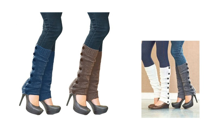 Comfort Breathable Leg Warmers with Buttons