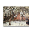 Camille Pissaro Chestnut Trees at Louveciennes Canvas Print