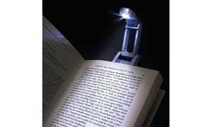 Insten Book Reading Light with Clip, Silver at Groupon Goods, plus 9.0% Cash Back from Ebates.