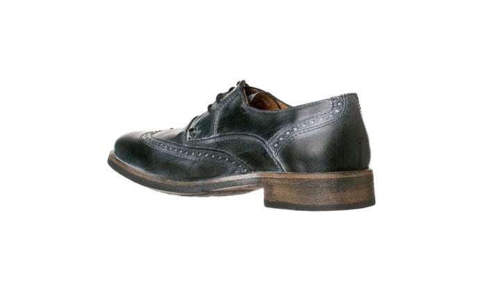 a33266da2f7 Steve Madden Men's 'Chapman' Leather Wingtip Oxfords, Black Leather ...