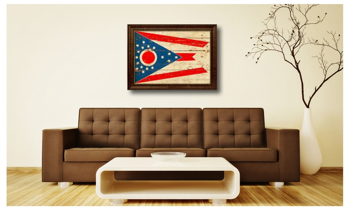 Share this deal spotcolorart ohio state flag patriotic home office décor canvas wall art design6042