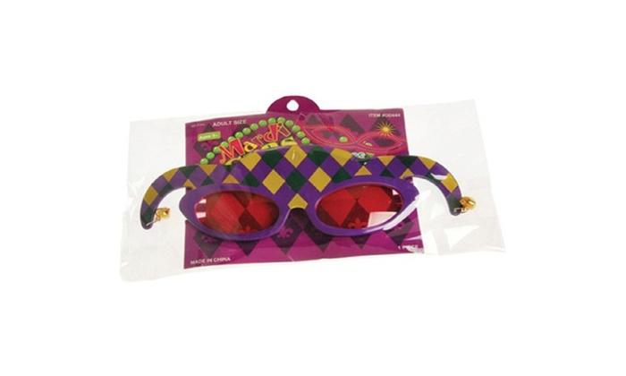Mardi Gras Jester Sunglasses-1 Dozen