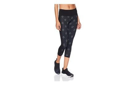 High Waisted Star Cropped Capri Leggings Yoga Activewear Workout 9307c072-3fa4-4254-94f8-3bb11cb02d2f