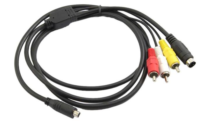 AV A/V TV Cable/Cord/Lead for Sony Handycam DCR-HC52/e DCR-SR47 ...