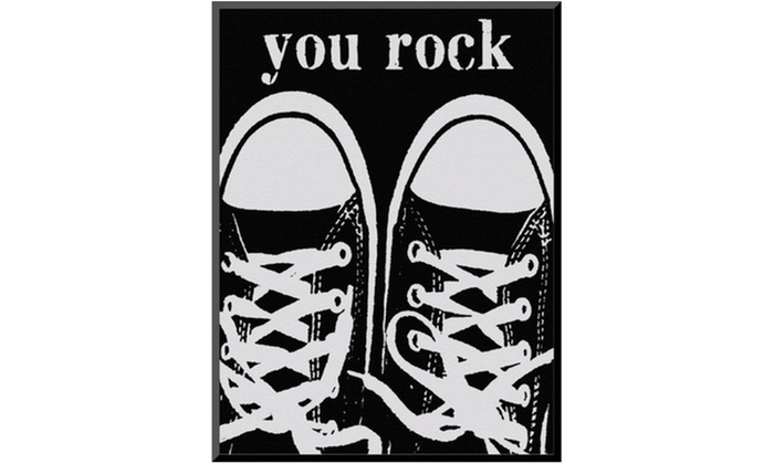 Groupon Goods: You Rock Black Sneakers by Lisa Weedn