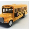 "Kinsfun 6"" inch Yellow School Bus Diecast Model pull back action"
