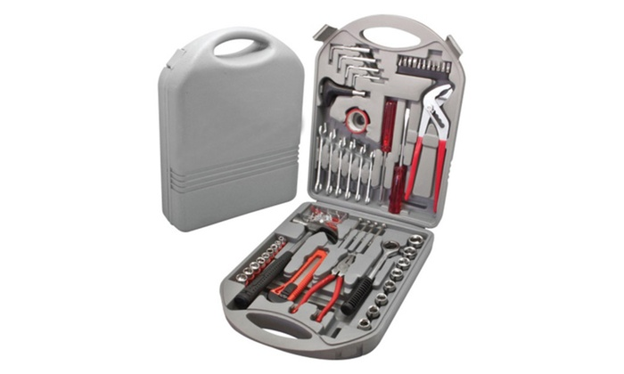 141 Pc Heavy Duty Toolbox - Mixed Portable Toolkit w/ Carrying Case