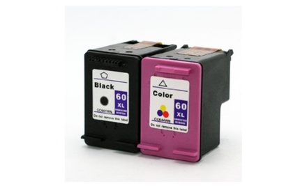 Compatible HP (60XLBlack/60XLTri-Color) Ink Cartridge Combo Set Pack