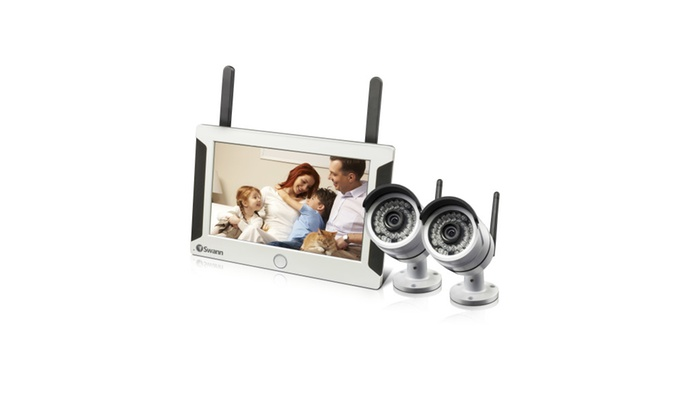 Swann SWNVW-470PK2-US Wi-Fi HD Monitor System & 2 Cameras