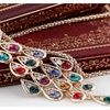 Peacock Long Colorful Crystal Necklaces & Pendants For Women