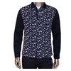 Men's Stylish Slim Fitted Printed Lapel Long Sleeve Cotton Shirt
