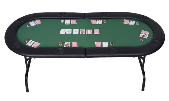 Dailyselections: 8 Player Casino Texas Holdem Folding Poker Table