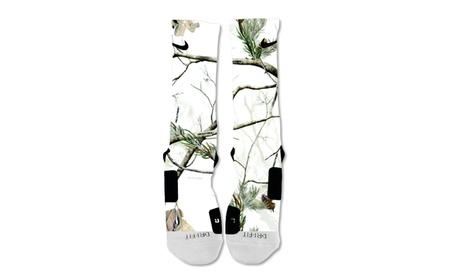 Custom Nike Elite Socks White Camo ade2f7f6-7c7a-458d-a620-c7f416690c2f
