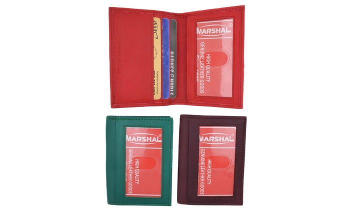 New Design Credit Card Holder with Front Id Window by Marshal