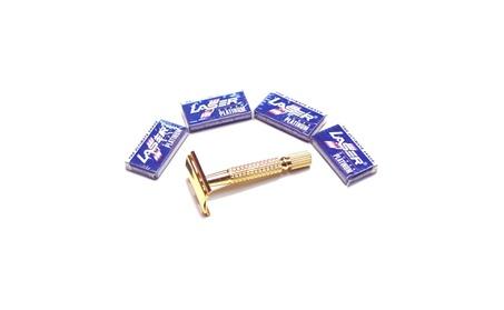 Old Fashion Men's Gold Safety Razor w/20 PCS Double Edge Razor Blades f7956bb8-369e-4bf9-8ce0-03398ff47f6f