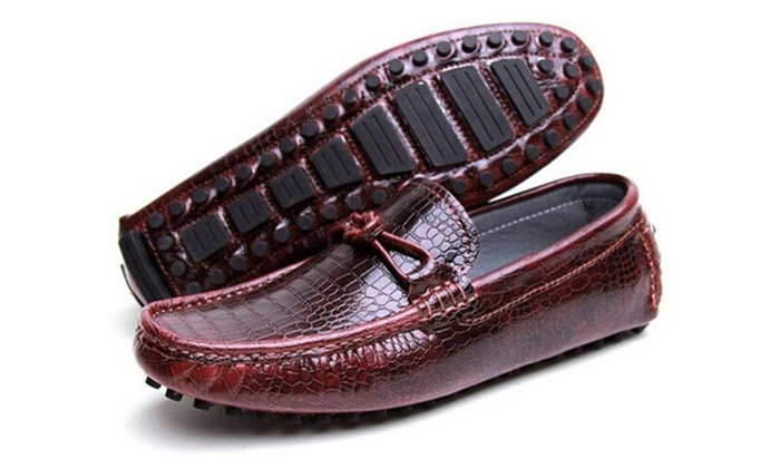 Men's Dress Casual Leather Driving Moccasin Loafer Shoes