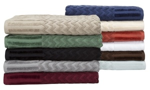 Lavish Home Chevron 100% Cotton Towel Set (6-Piece)
