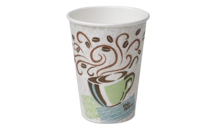 Dixie Hot Cups Paper 10oz Coffee Dreams Design