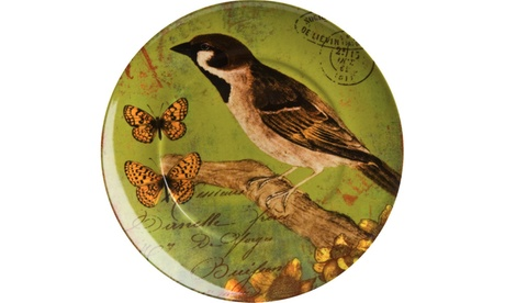 Set of 4 Accent Plates Nature Bird eed1ffc8-0b28-4131-9bae-6f647e044a03