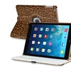 Insten For iPad Air 360 Swivel Stand Leather Case Brown Leopard
