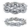 Crystal Silvertone 2-Pc. Stretch Bracelet Set