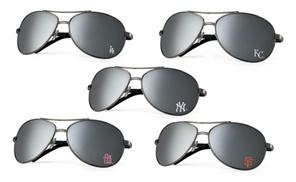 Got Shades International : MLB Baseball Unisex Mirrored Pilot Aviator Sunglasses