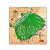 Roderick Stevens Snap Purse Green Canvas Print