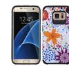 Insten Flower Hard Hybrid Case For Samsung Galaxy S7 Edge Orange/white