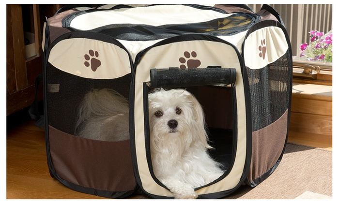 Captivating Portable Mesh Dog Play Pen, Small/Large ...