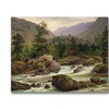 Thomas Fearnley Norwegian Waterfall 1840 Canvas Print