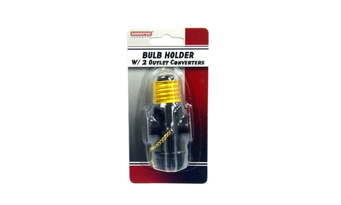 Bulb Holder with 2 Outlet Converters w/ (Pack of 2)