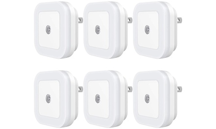Plug-in LED Night Light with Dusk-to-Dawn Sensor 6-PAck