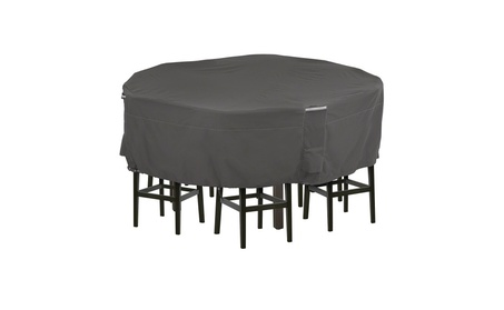 Classic Accessories 55-777-045101-EC Round Patio Table Chair Set Cover 9938b1ff-4489-448d-a698-ceb043b259df