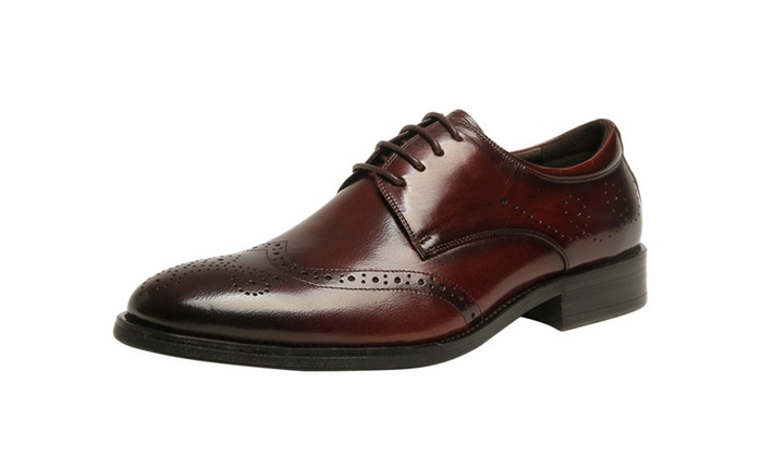 DPN Men's Lace Up Business Shoes Oxfords