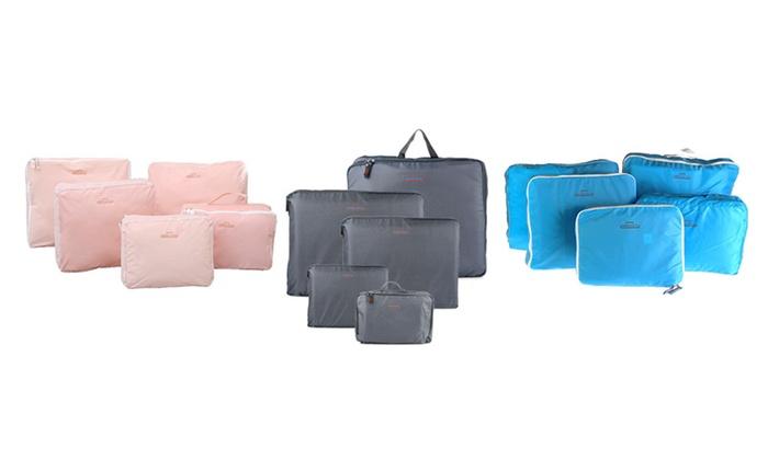 5 Piece Travel Bag Set - Red