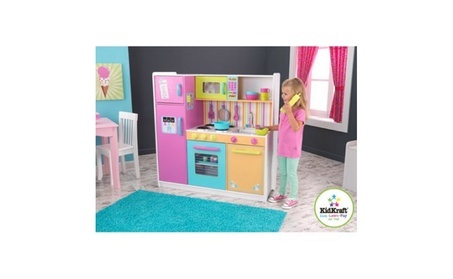 KidKraft Deluxe Big & Bright Wooden Play Kitchen with 3pc. Accessories 56d63cae-02ad-438b-9d13-61de9c4350f1
