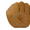 Trend Lab Baseball Glove Shaped Wall Clock, Brown