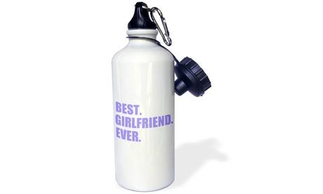 Water Bottle Purple Best Girlfriend Ever text anniversary valentines day gift