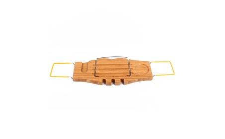 Bathtub Rack Bamboo Shelf Shower Tub Wine Book Holder Stand Expandable 07018573-5ef8-4e41-afee-200cd3bd4c4f