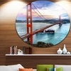 Golden Gate in San Francisco' Ultra Glossy Sea Bridge Metal Circle Wall Art