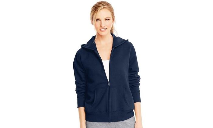 471253531f5 Hanes 00078715893422 ComfortSoft EcoSmart Womens Full Zip Hoodie Sweatshirt  Navy ...