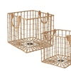 Open Weave Iron and Jute Crate - Set of 2