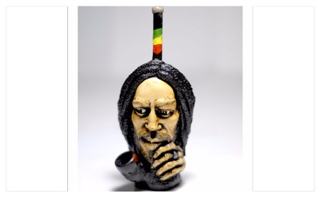 Handmade Resin Pipe Style On Bob Marley Thinking Face 59103b44-5079-4e97-8355-9c31812a1892