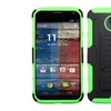 Insten Hard Hybrid Case with Stand For Moto X 2014 VersionBlack Green