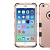 Insten Tuff Hard Hybrid Rugged Case For Apple iPhone 6 6s Rose Gold