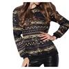 Women's Oversized Crewneck Chain Printed Sport Pullover Sweatshirt