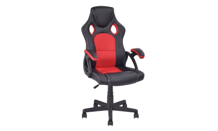 Costway PU Leather Executive Bucket Seat Racing Style Office Chair ...  sc 1 st  Groupon & Up To 39% Off on Costway PU Leather Executive ... | Groupon Goods