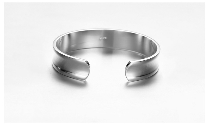 Sterling silver clean cut bangle groupon for How do i clean sterling silver jewelry