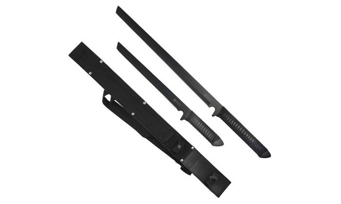 Twin Ninja Set - Two Swords - One Sheath