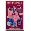 Air France Paris Tokyo Canvas Print 24 x 32